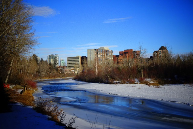 Fluss Sonne Calgary.JPG