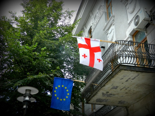 EU Flagge in Georgien