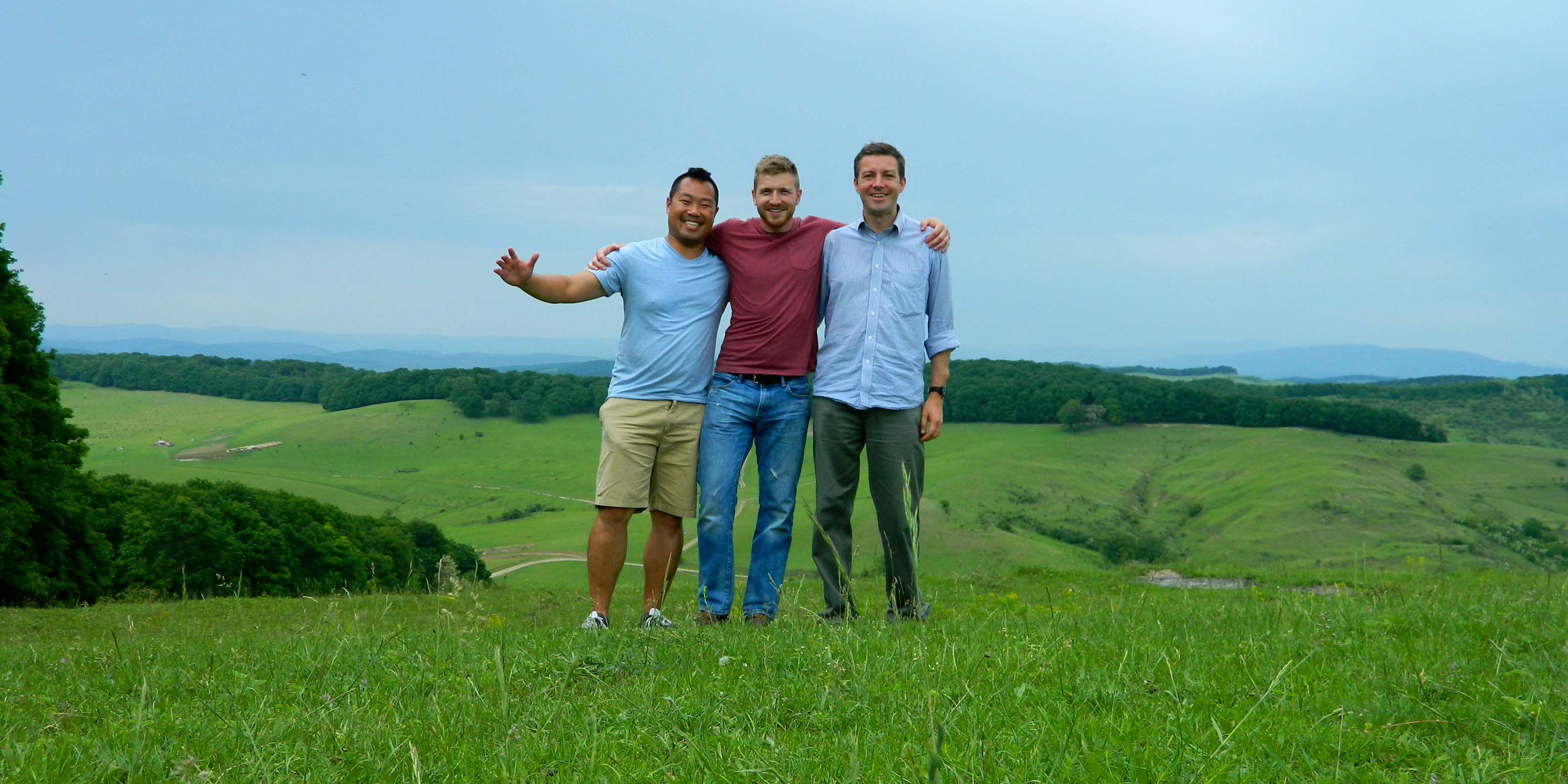 hiking with Matt and Hunter
