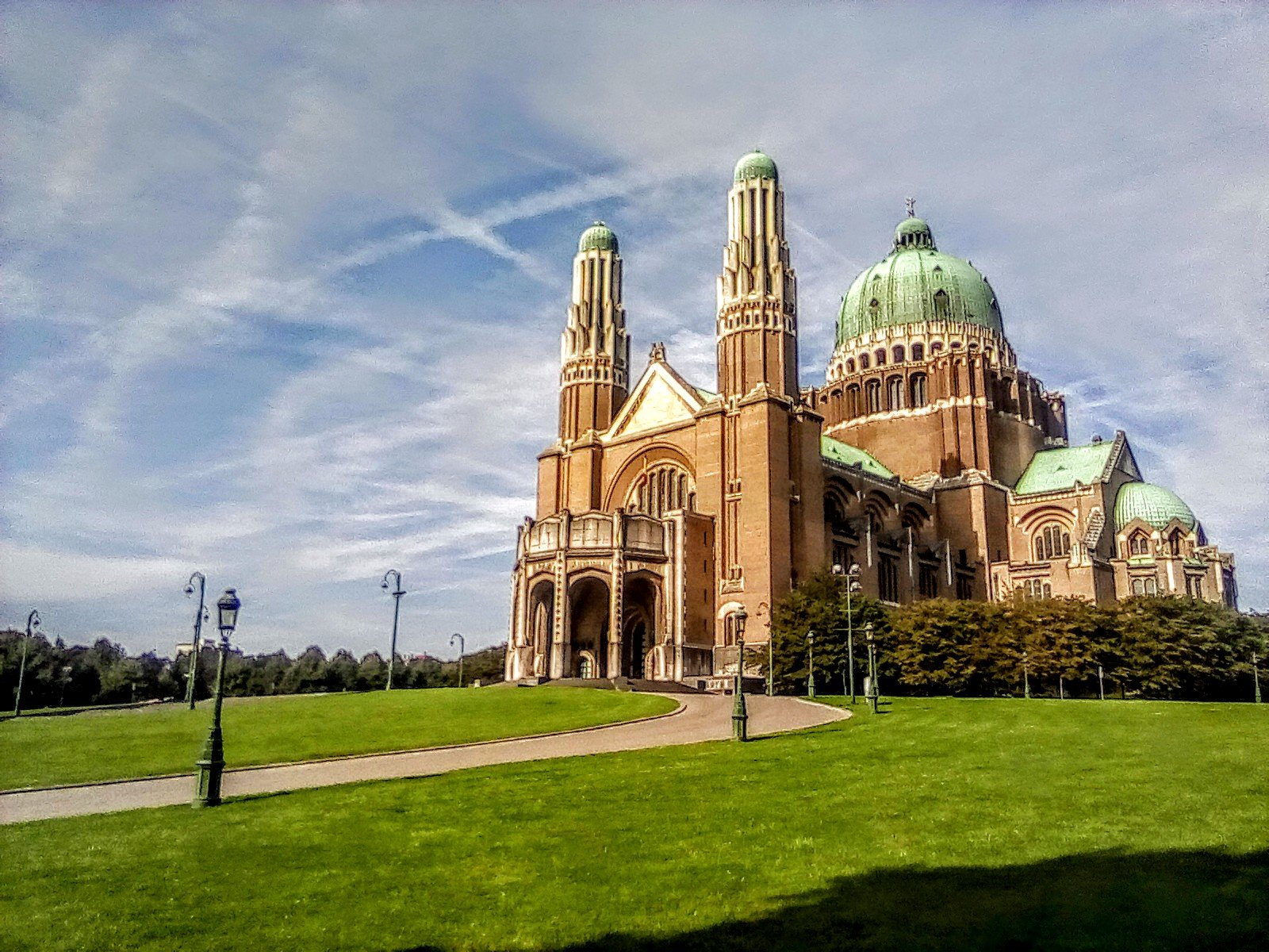 Kathedrale Koekelberg mit Pop-Effect