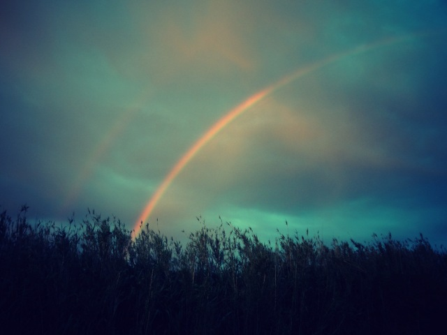 rainbow and sunset (1)